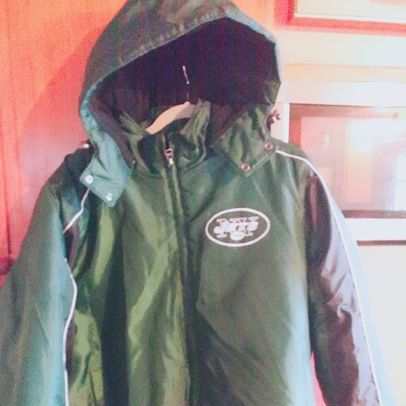 cheap for discount 444b7 27ea9 Men's NFL New York Jets winter coat. Sz XL